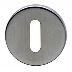 52mm dia. x 6mm Satin Stainless Steel Standard Key Escutcheon