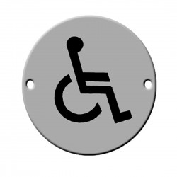 Satin Stainless Steel Disabled Toilet Sign