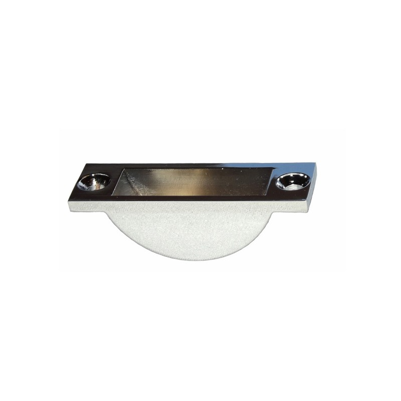 Easy Clean Floor Socket Satin Chrome